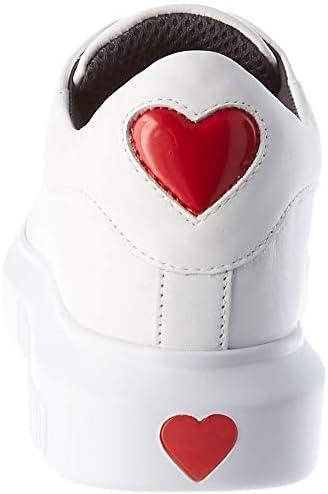Love Moschino SS130, Scarpe da Ginnastica Womens, Bianco, 35 EU