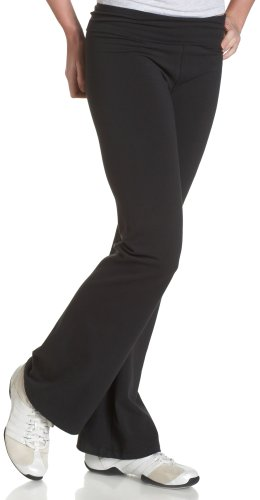 Soffe Junior's Yoga Roll-Top Pant, Black Extra Small