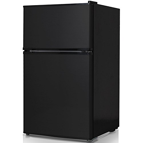 Keystone KSTRC312CB Compact 2-Door Refrigerator/Freezer, 3.1 Cubic Feet, Black (Best Deals On Freezers)