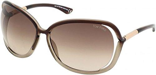(Tom Ford TF76 Raquel 38F Womens Transparent Bronze 63 mm Sunglasses - transparent)