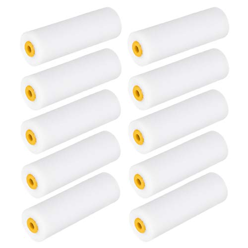 uxcell Paint Roller Cover 4.5 Inch 111mm Mini Sponge Brush for Household Wall Painting Treatment 10pcs