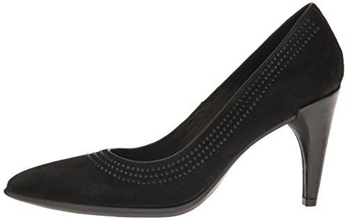 Shape Donna Tacco Nero black Scarpe Ballerina Pointy Ecco Con Pw6xq4aqd