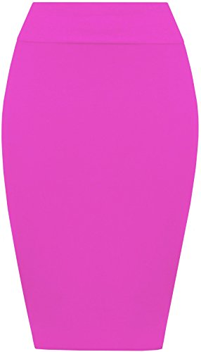 Re Tech UK - Falda - Estuche - para mujer Hot Pink