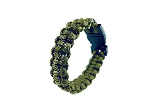 Engineered Green Paracord Survival Bracelet