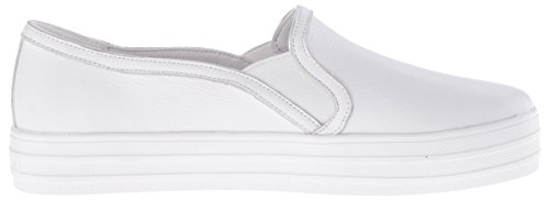 Skechers Street Womens Double Up Mode Sneaker Blanc / Argent