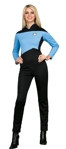 - Rubie's Secret Wishes  Star Trek the Next Generation Woman's Deluxe Blue Jumpsuit, Adult Small