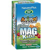 Nature's Plus - Animal Parade MagKidz Children's Chewable Sugarfree -Cherry Flavor, 90 Count Sugarless Chewable