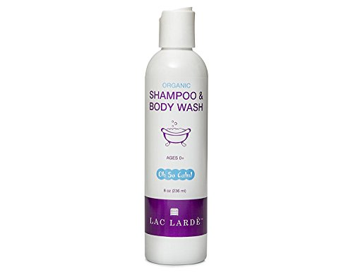 White Hair Body Wash - Lac Larde Baby WASH and Shampoo. Concentrated Formula from Natural and Organic Ingredients. Lavender and Chamomile - Oh So Calm! - 8 Ounce Recycable Bottle