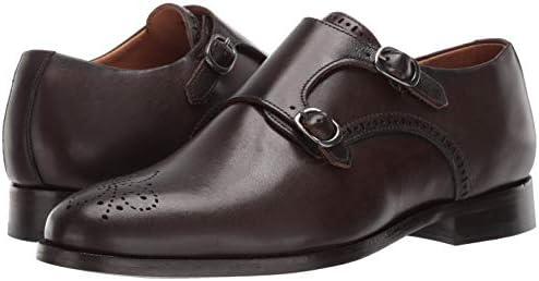 MARC JOSEPH NEW YORK Men Leather Double Monk Wingtip Dress Shoe Oxford