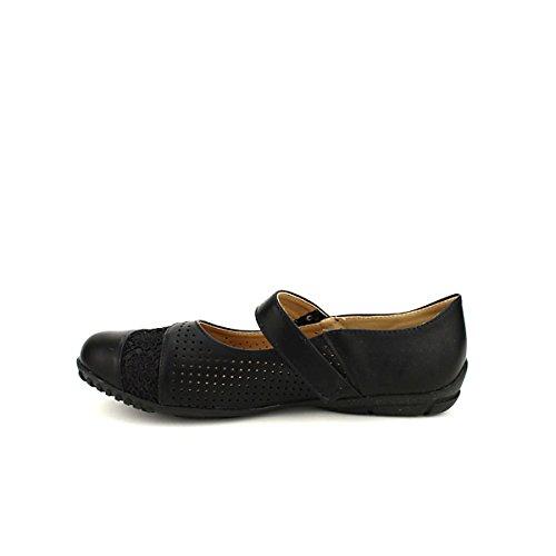 Cendriyon Femme Noire Ballerine Chaussures KLAOUEY qZ6a4q8