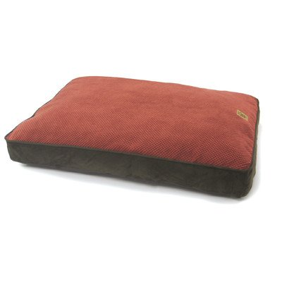 Precision Pet Gusset Floor Pillow, 30 by 40-Inch, Chocolate Simply Suede/Rust Bump ()