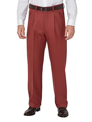 Paul Fredrick Men's Wool Flannel Pleated Pants Brick 36