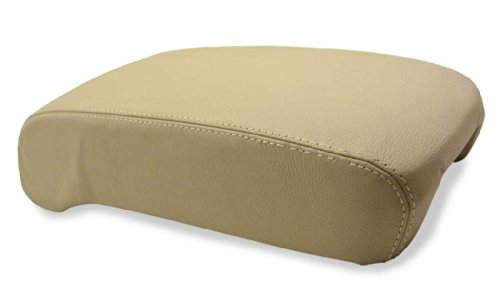 Fits 2001-2006 Lexus LS 430 Real Tan Leather Console Lid Armrest Cover (Leather Part Only)