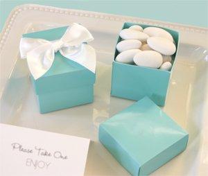 Mini Cube Boxes - Aqua Blue (Set of 144) - Baby Shower Gifts & Wedding Favors