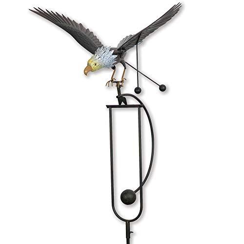 Bits and Pieces - Flying Eagle Garden Stake - Metal Garden Sculpture - Outdoor Lawn and Garden Décor