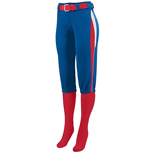Augusta Sportswear Girls' Comet Softball Pant M Royal/Red/White ()
