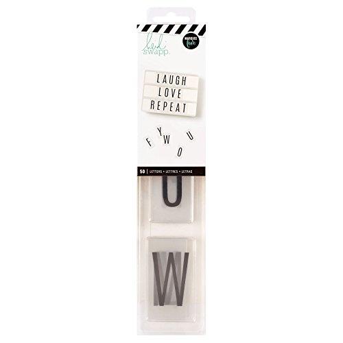 Heidi Swapp Light Box Alphabet Inserts by American Crafts   50 letters, Black