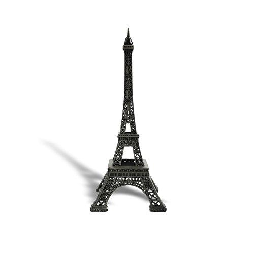 "allgala 10"" Eiffel Tower Statue Decor Alloy Metal, Black"