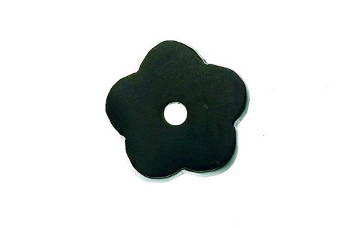 Top Knobs Top Knobs Aspen Flower Backplate, Medium Bronze, Metal (16in Flower Cabinet Knob)