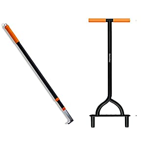 Fiskars 9862 Coring Lawn Aerator and 9863 Deck Flosser (Bundle, 2 Items)