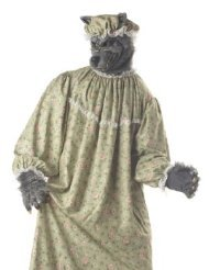 Bad Adult Costume - Big Bad Wolf Granny Adult Costume - One Size