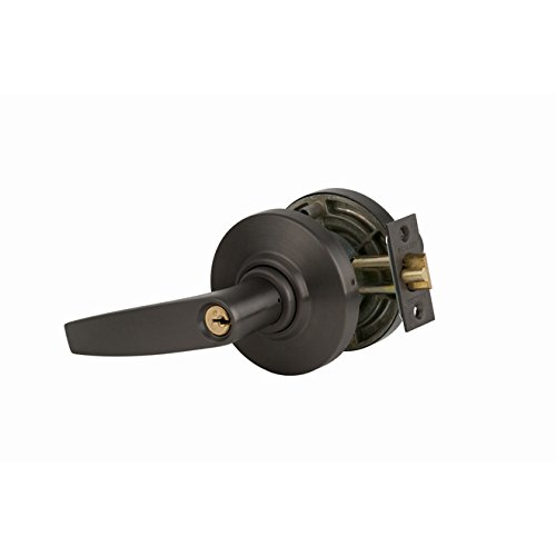 Schlage commercial AL53JUP613 AL Series Grade 2 Cylindrical Lock, Entry Function Turn/Push Button Locking, Jupiter Lever Design, Oil Rubbed Bronze Finish by Schlage Lock Company