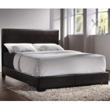 Coaster Furniture 300261Q Contemporary Queen Upholstered Low-Profile Bed in Brow