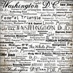 Scrapbook Customs Washington DC Words White 12'' x 12'' Scrapbook Paper - 1 Sheet (34181)