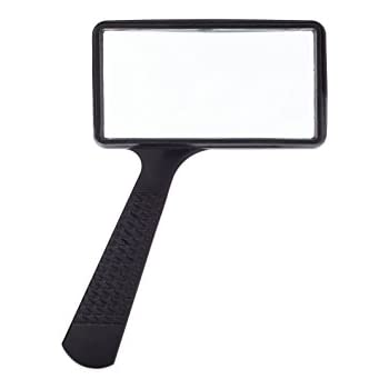 amazon com jumbo rectangular handheld magnifying glass 3x