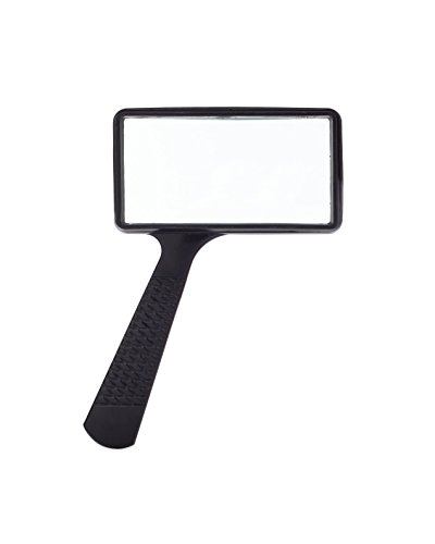 Jumbo Rectangular Handheld Magnifying Glass (3X Magnification) – Scratch Resistant GLASS Lens - Large Horizontal Viewing - Lenses Plastic Glass Vs