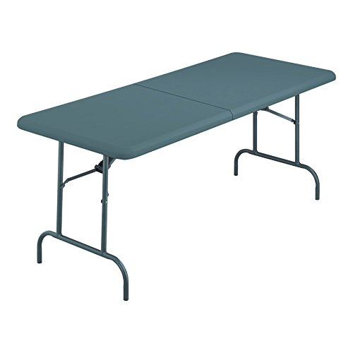 Iceberg 65457 Indestructible Too Bifold Resin Folding Table 60w x 30d x 29h Charcoal, Charcoal by Iceberg