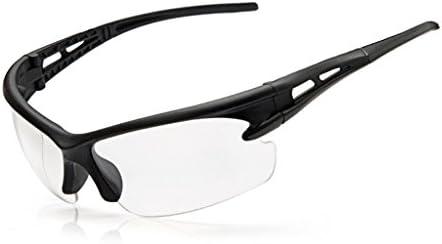 Dabixx サングラス, サイクリングサングラスアンチUVメガネゴーグルバイクスポーツスポーツ偏光眼鏡 - トランスペアレント