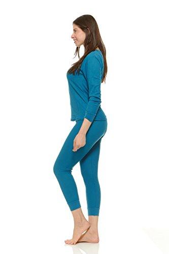 Women's Soft 100% Cotton Waffle Thermal Underwear Long ...