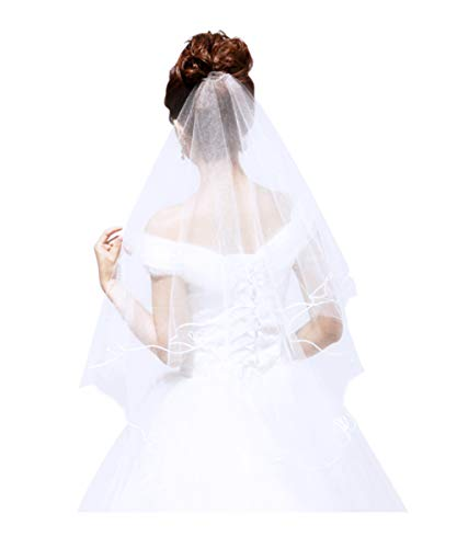 (Lace Tulle Bride Veil Cathedral Long Halloween Costume Wedding Hair)