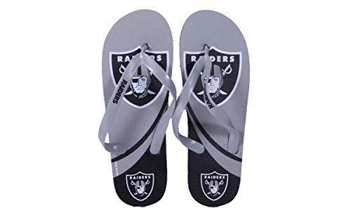 Happy Comfy Raiders Flip OAKBLG2 Feet Flops Feet Logo 2 Licensed and Big Oakland Medium Officially NFL PSq64S