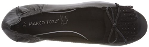MARCO TOZZI premio Women's 24222 Closed Toe Ballet Flats Black (Black 001) 6D674