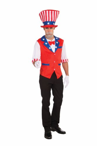 [Forum Uncle Sam Hat and Shirt, Red/White/Blue, Standard Costume] (Uncle Sam Halloween Costumes)