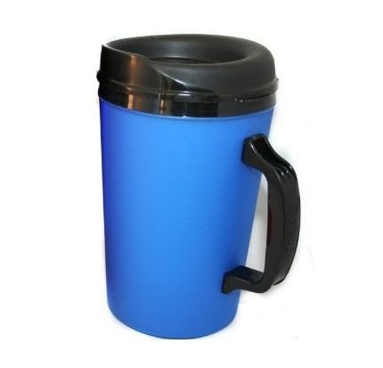 34 Oz Thermoserv Foam Insulated Coffee Mug- Pearl Dark Blue