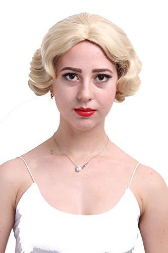 (ROLECOS Sexy Flapper Wigs Short Wavy Marilyn Monroe Costume Wig Halloween Cosplay)
