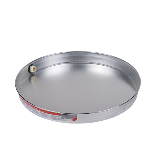 Oatey 34172 Aluminum Pan Bagged with 1-Inch CPVC Fitting, Pan without Pre-Drilled Hole, 22-Inch by Oatey (Image #1)