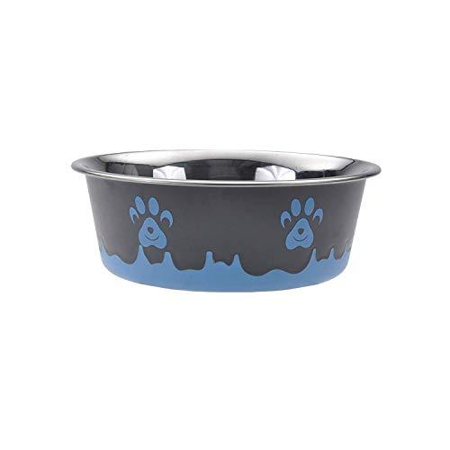 Maslow Design Series Non-Skid Paw Design Bowl, Blue 28 oz/3.5 Cup