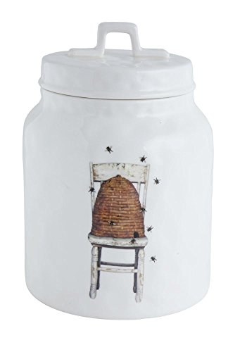Stoneware Canister w/ Beehive on Chair ()
