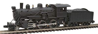 Model Power MDP87600 N Scale Undecorated 2-6-0 Mogul Model Train Steam Locomotive with Standard DCC & Sound