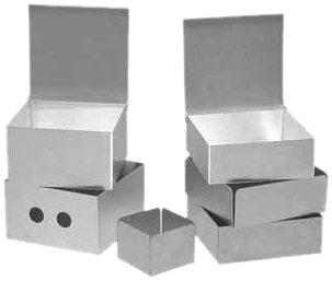 Alkali Scientific SB2A 2 Aluminum Freezer Storage Box with 81 Cell
