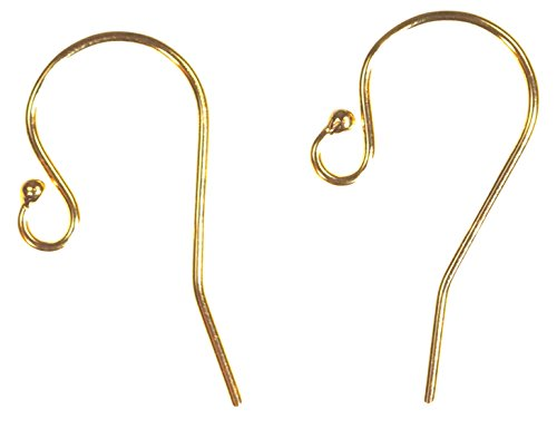 6 Pairs 14k Yellow Gold-Filled Ball End Ear Wire 11.5x20.0mm (0.66mm) ()