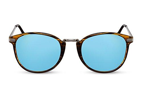 Noir Hommes Femmes Rondes 004 Leo Rétro Ca Brun Lunettes Sunglasses Cheapass qwROnCHtO