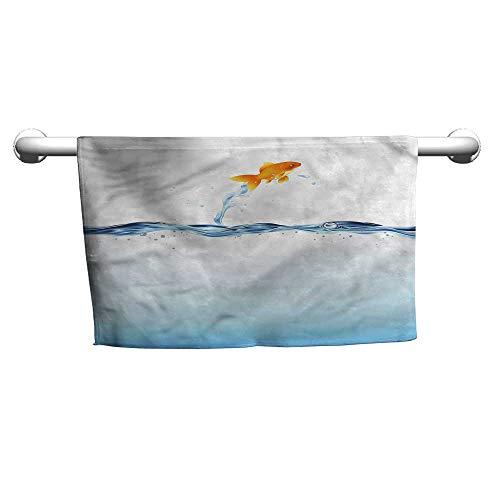 (Bensonsve Flowered Aquarium,Little Goldfish Leaping,Cooling Towel for Neck)
