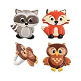 woodland animals party supplies - Woodland Animal Friends Cupcake Rings by Bakery Supplies (24-Pack)