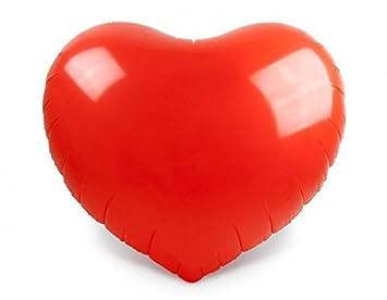 Balón gonfable gigante rojo en forma de corazón: Amazon.es ...