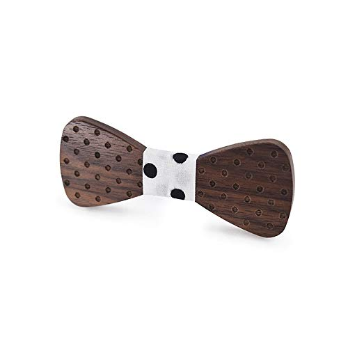 - Wedding Bow Ties for Men Men's Women's Wooden Bow Tie Striped Plaid Dotted Engraved Bow Tie Starts Printing Flower Wooden Bow Tie Tuxedo's Bow Tie (Color : White, Size : 59.5cm)